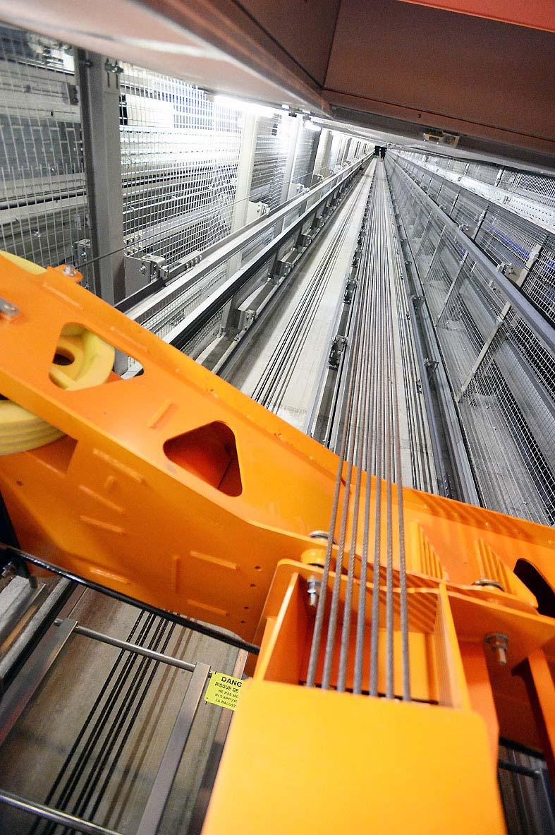 Ascenseurs TWIN installés dans la tour Incity