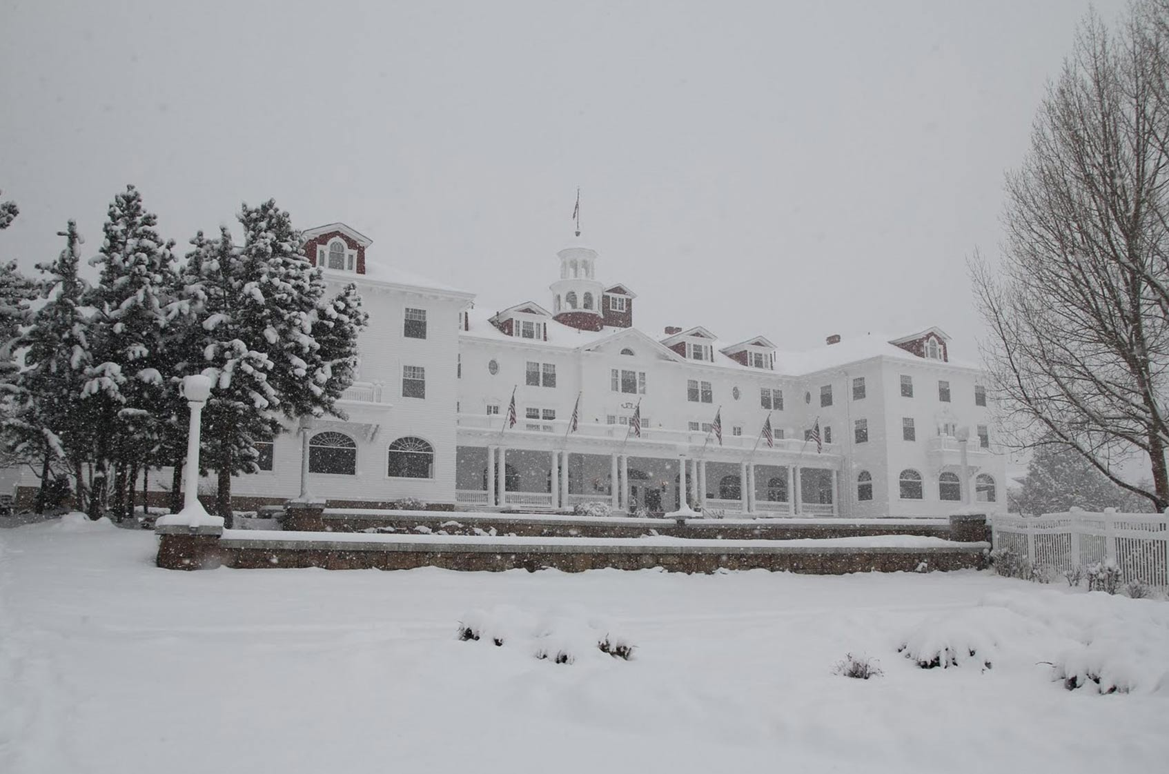 The Stanley Hotel in Feb, Estes Park, CO - by Sgerbic
