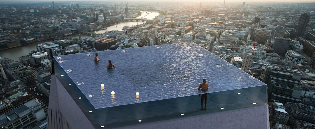 Piscine rooftop Londres