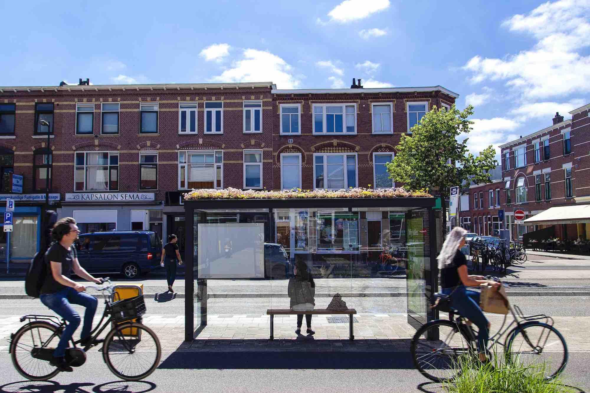 Abris bus végétaux à Utrecht