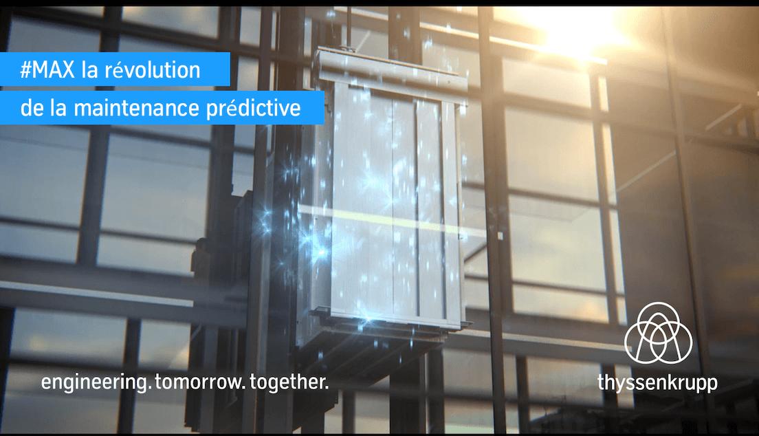 Maintenance prédictive MAX par thyssenkrupp Ascenseurs